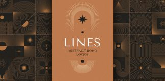 Abstract boho line graphics for logos, icons, and symbols.