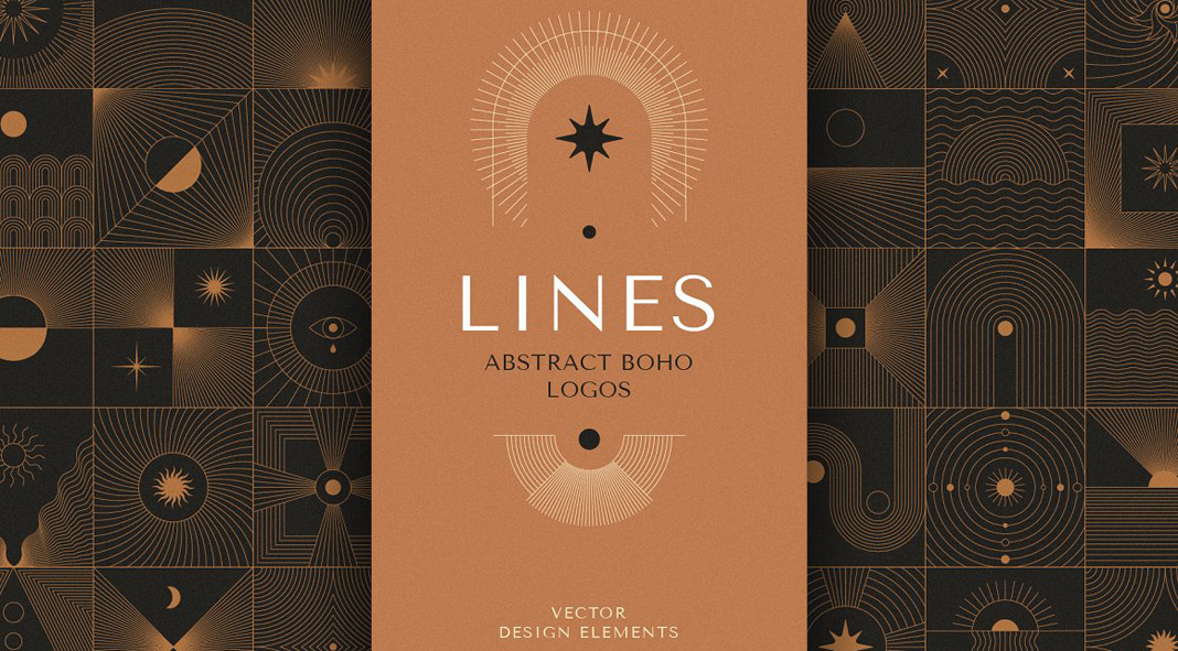 Abstract Boho Line Graphics for Logos, Icons, and Symbols