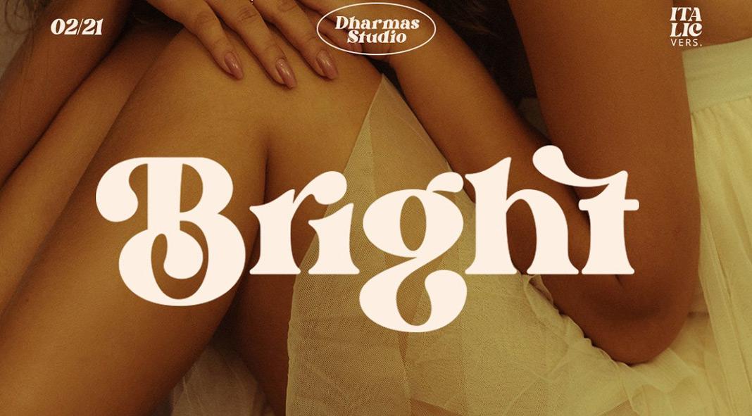 Bright Typeface by Dharmas Studio.