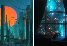 Cyberpunk inspired futuristic illustrations by Dangiuz (aka Leopoldo D'Angelo)