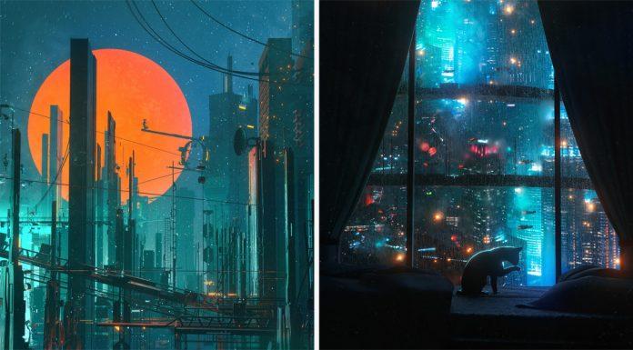 Cyberpunk inspired futuristic illustrations by Dangiuz (aka Leopoldo D'Angelo)