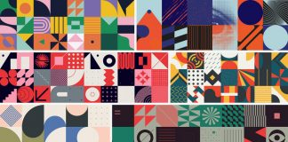 Deconstructed Abstract Geometric Vector Pattern Design