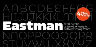 Eastman font family by Zetafonts