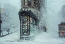 Flatiron Building shot by Michele Palazzo during 2016 blizzard available as NFT.