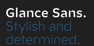 Glance Sans font family by Identity Letters.