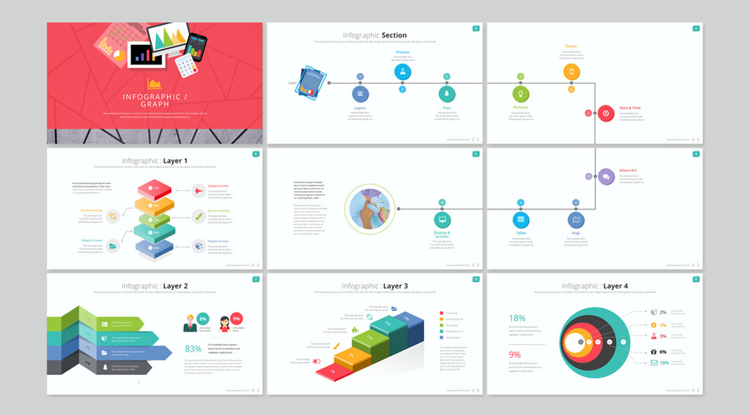 Infographic Presentation Template for Adobe InDesign.