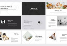 Minimal Case Study Presentation Template by GraphicArtist