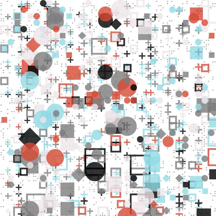 Code generated Bauhaus NFT art: Complicated Elegance №1