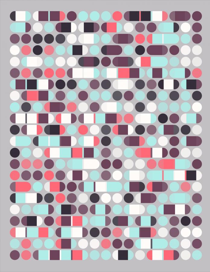 Code generated Bauhaus NFT art: Modernist Prill №10 (Small)
