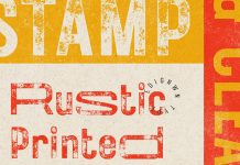 Rustic Printed Vintage Font by Edignwn Type