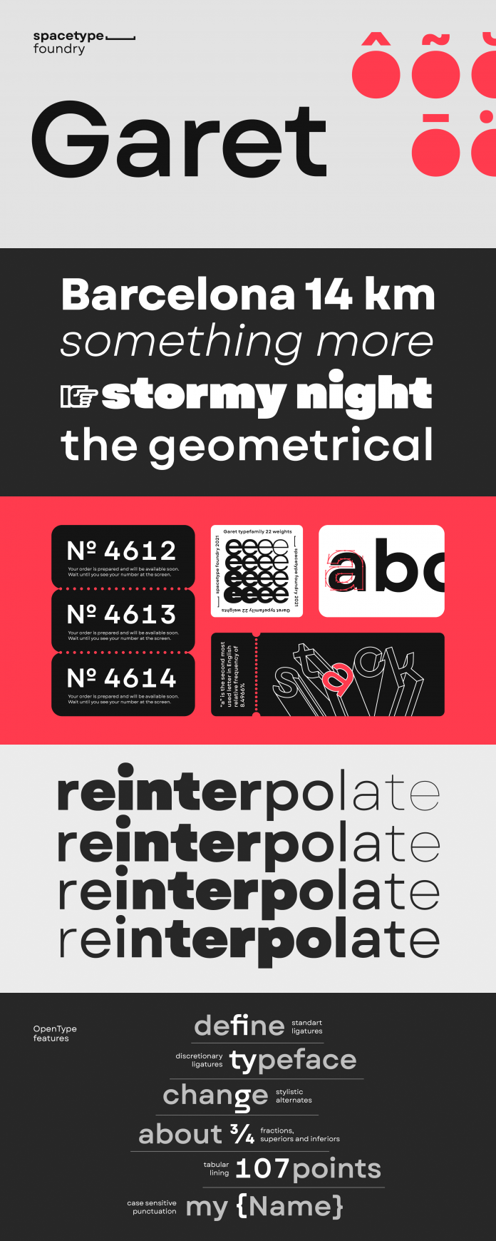 Garet font family from Spacetype.