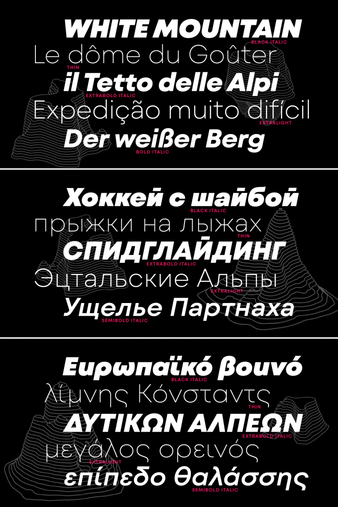Mont Blanc font family by Fontfabric