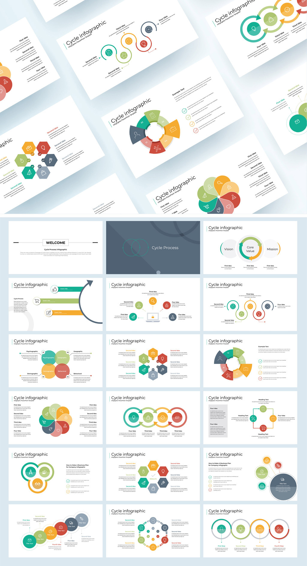 Cycle Process Infographic InDesign Presentation Template