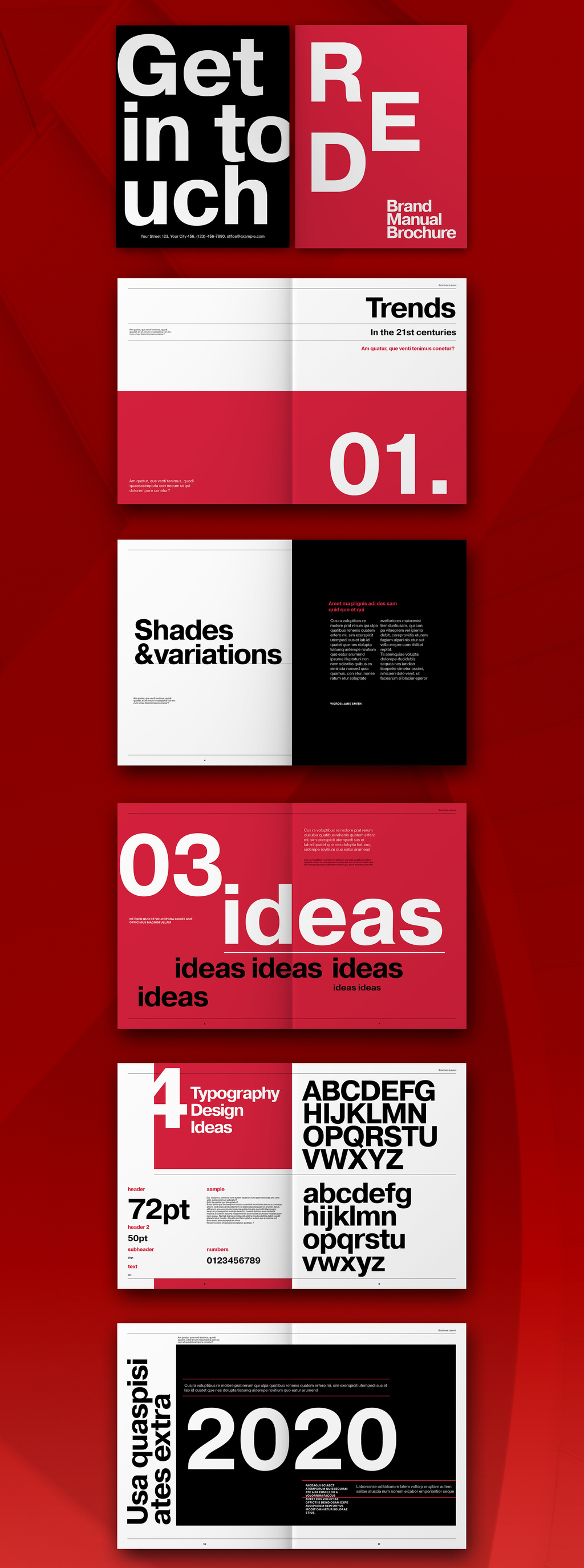 InDesign Brand Manual Template with Bold Typography