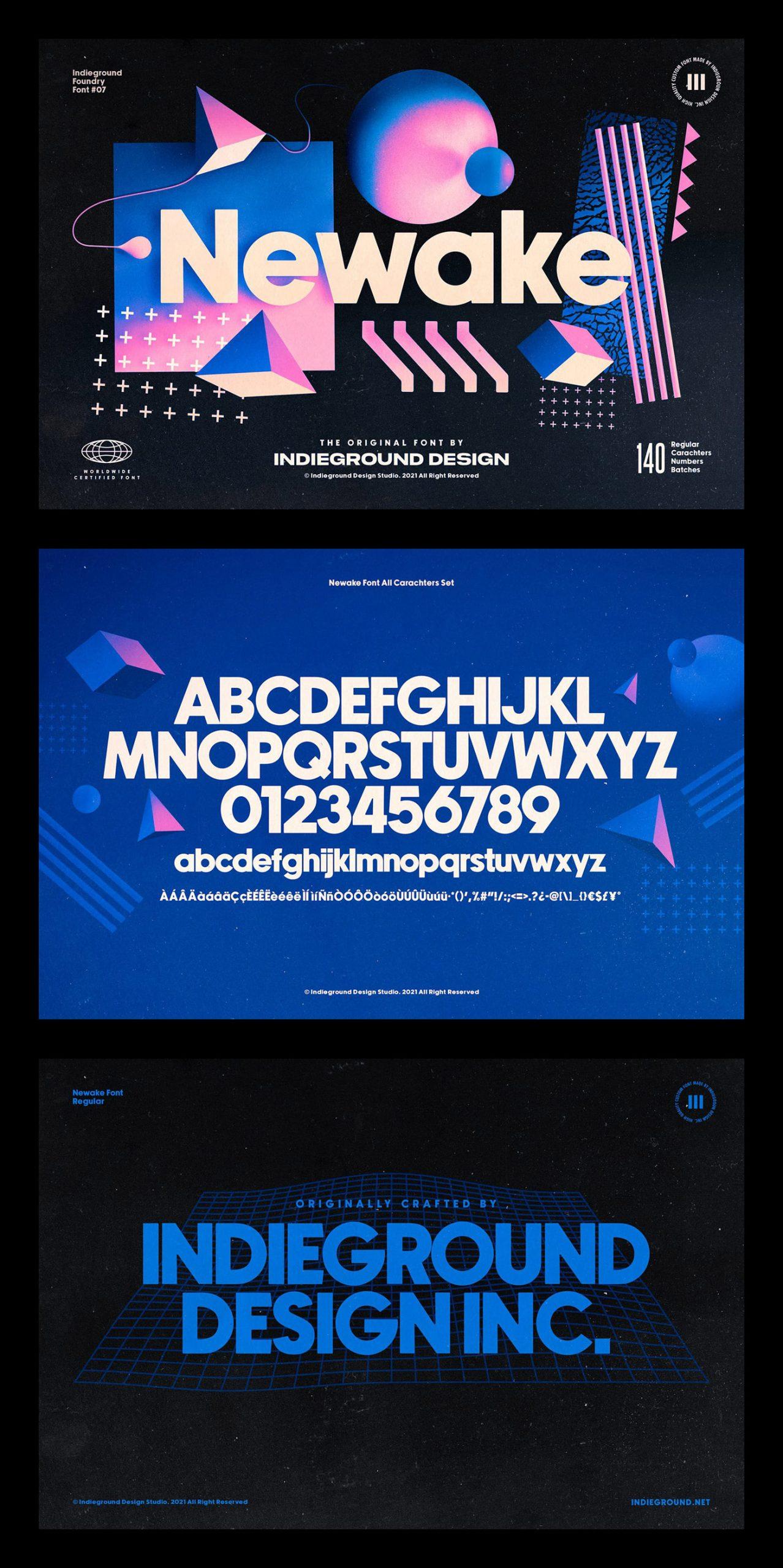 Newake Free Font Download