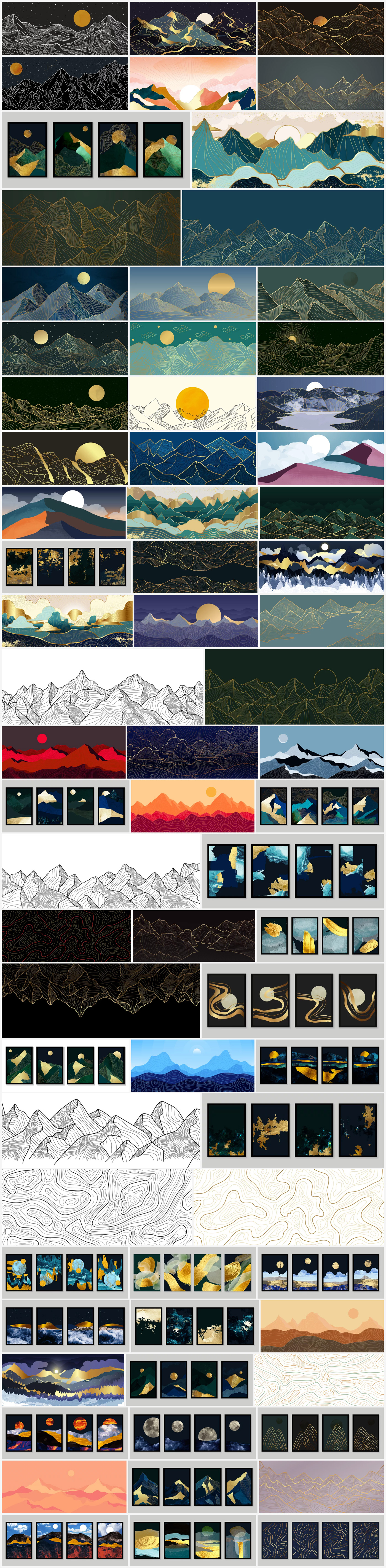 Download Vector illustrations of Landscape Wallpaper Artworks