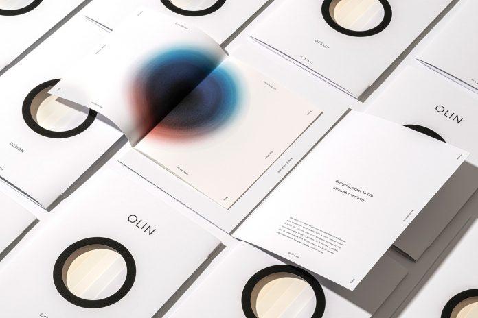 Amsterdam studio Design & Practice rebrands Olin paper by Antalis