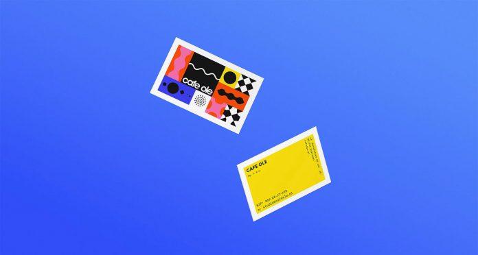 Visual identity design by Joasia Fidler-Wieruszewska for Cafe Ole.