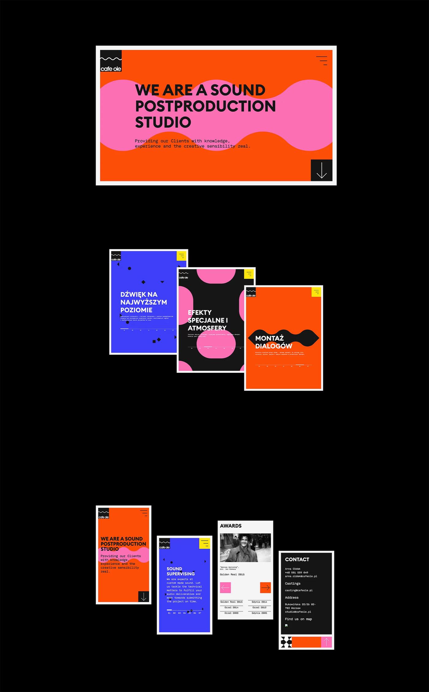 Visual Identity by Joasia Fidler-Wieruszewska for Cafe Ole