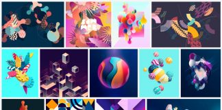 Abstract geometric vector graphics from Adobe Stock.