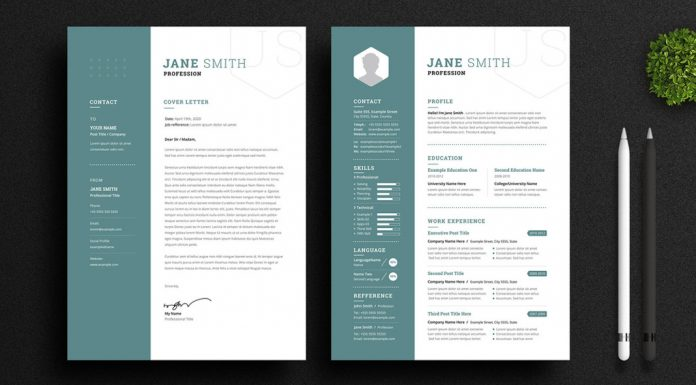 Adobe InDesign Resume and Cover Letter Template