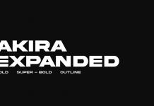 Akira Expanded font