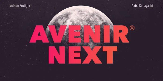 Avenir Next font family by Linotype