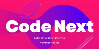 Code Next font family by Fontfabric.