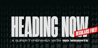 Heading Now font family from Zetafonts