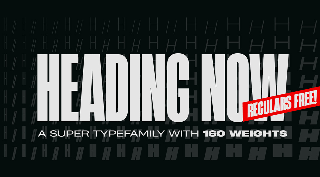 Heading Now font family from Zetafonts