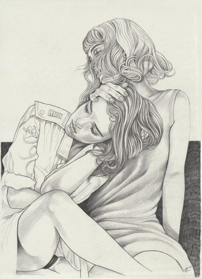 Martine Johanna, Mind Games (drawing)