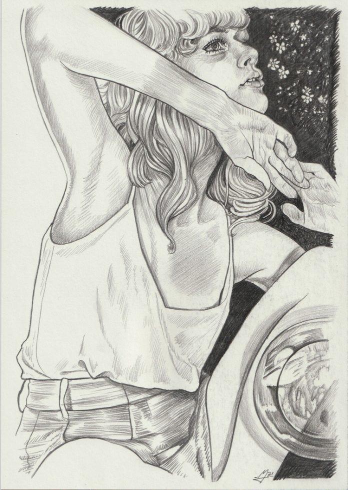 Martine Johanna, Stargazing (drawing)