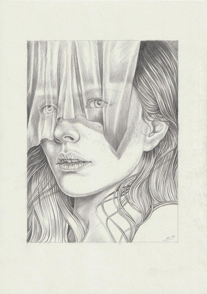 Martine Johanna, The Veil (drawing)