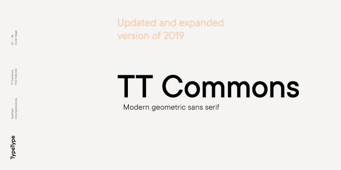 TT Commons font family from TypeType
