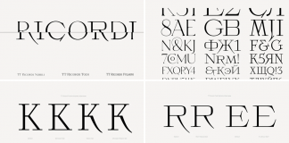 TT Ricordi fonts by TypeType