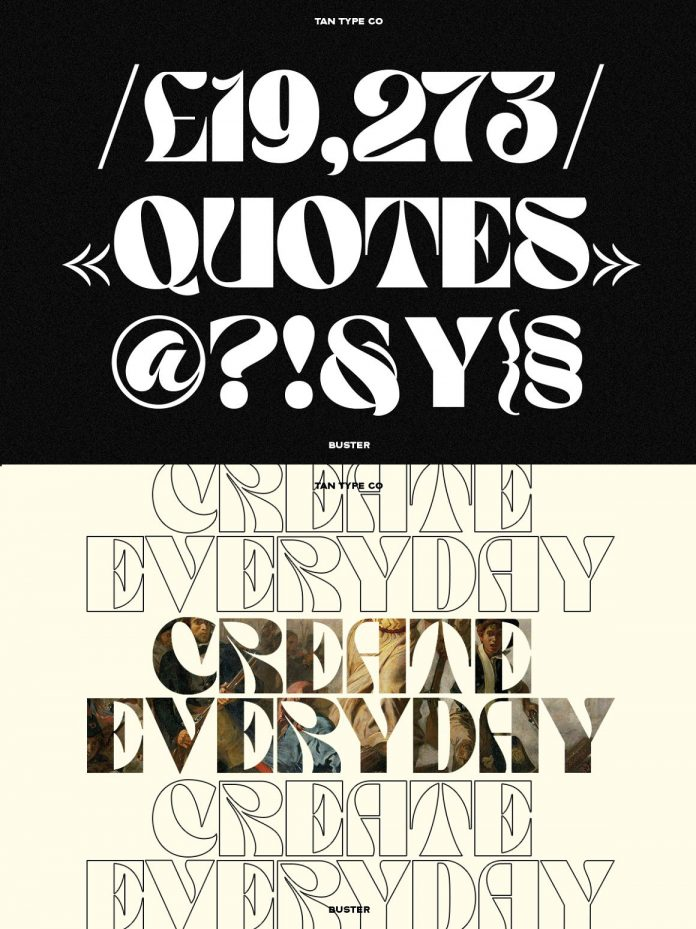TAN - BUSTER font by TanType
