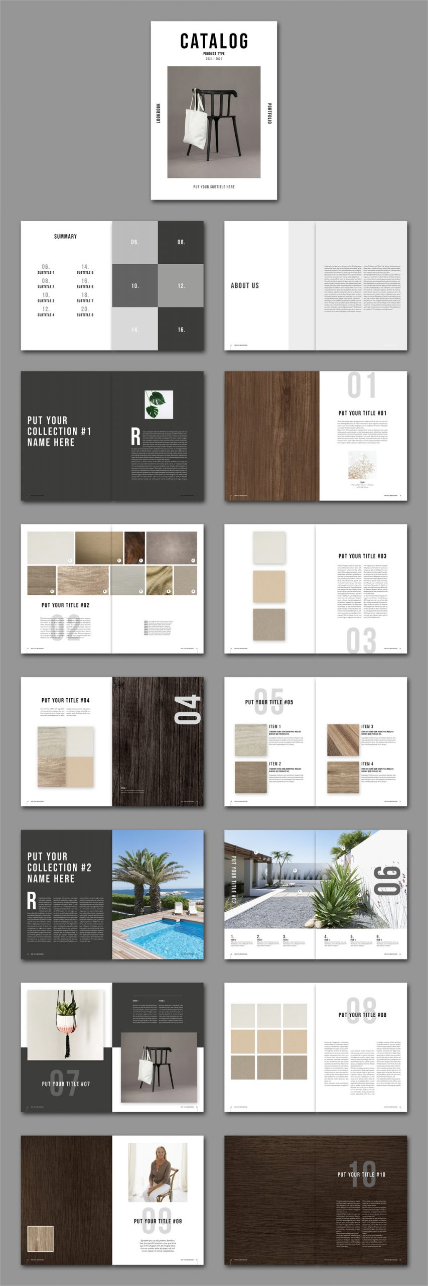 Catalog and Lookbook InDesign Template by Tom Sarraipo.