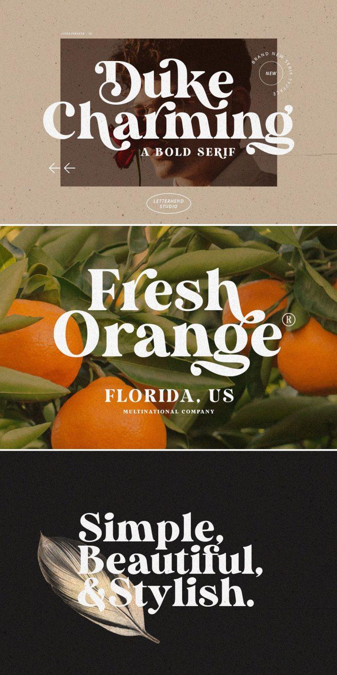 Duke Charming typeface by Letterhend Studio.