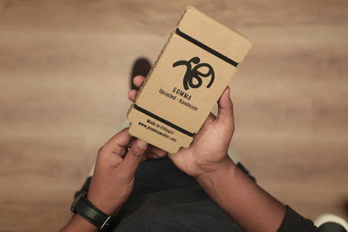 A handmade, vegan, environmentally friendly, business card holder by Abdulkerim Behij.