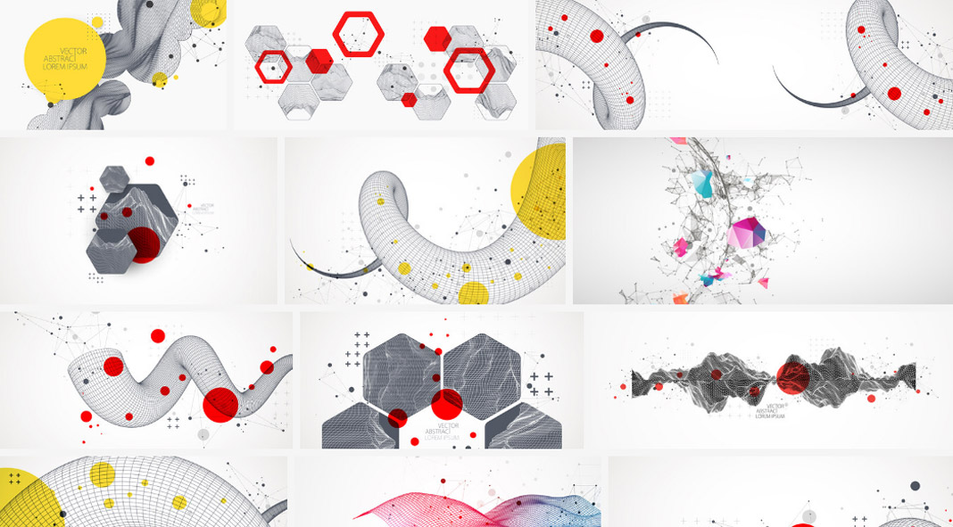 Abstract vector graphics for backgrounds or digital artworks.