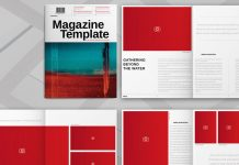 Adobe InDesign magazine template by Adobe Stock contributor @Refresh.