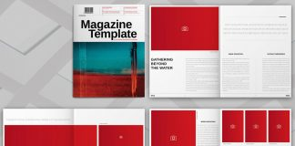 Adobe InDesign magazine template by Adobe Stock contributor @Refresh.