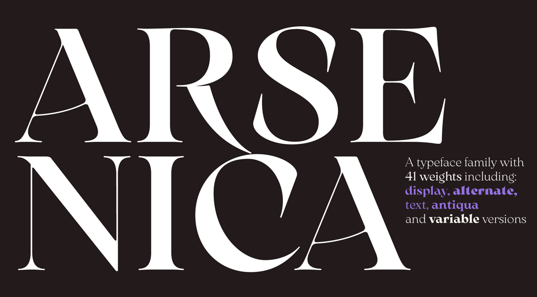 Arsenica font family from Zetafonts.