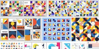 Bauhaus poster designs as Vector Templates
