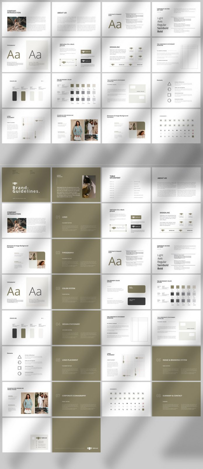 Brand Identity Guidelines Brochure Template for Adobe InDesign