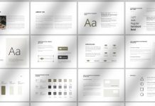 Brand Identity Guidelines Brochure Template from PixWork
