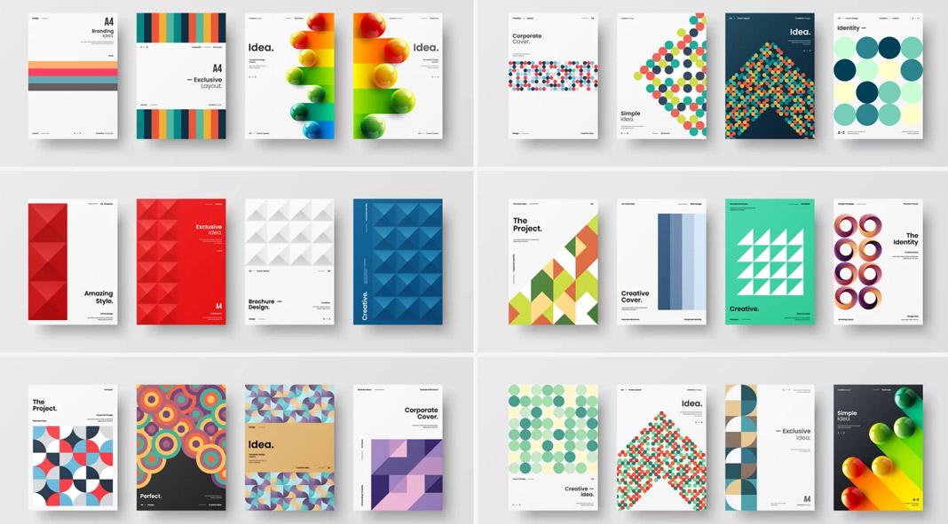 Business presentation cover designs.