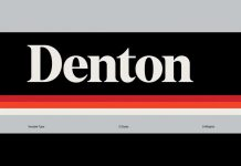 Denton font family by Peregrin Studio