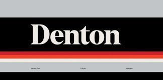 Denton font family by Peregrin Studio