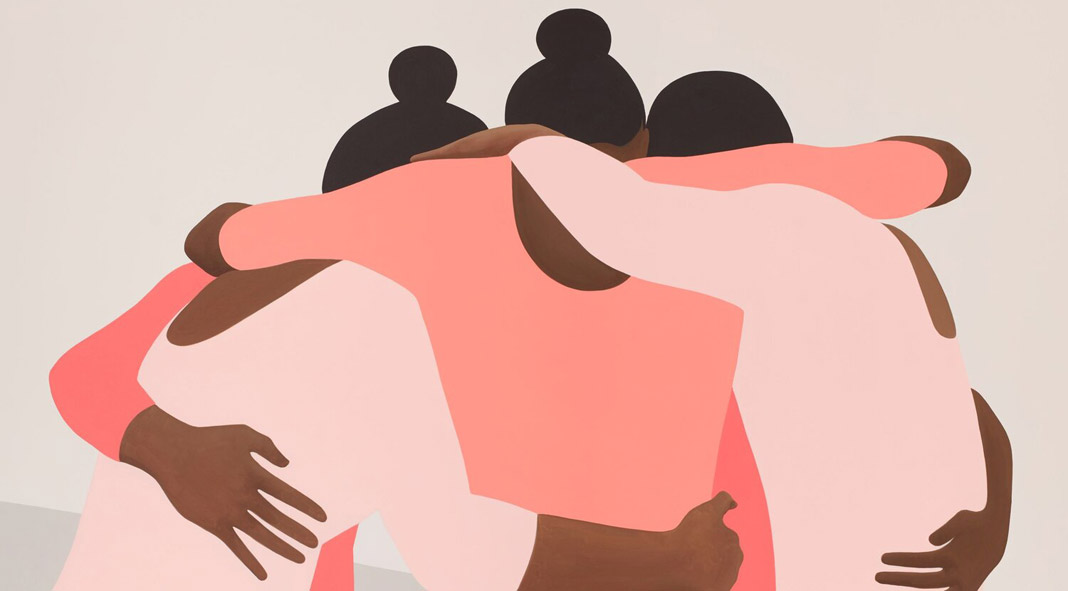 Gymnastics inspired paintings by Thenjiwe Niki Nkosi